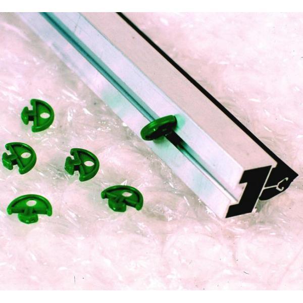 Groene bevestigingsclips noppenfolieschaduwdoek