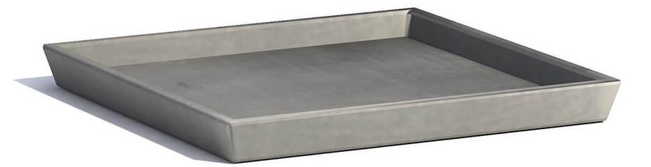 ECOPOTS Rotterdam onderschotel grijs 36 cm
