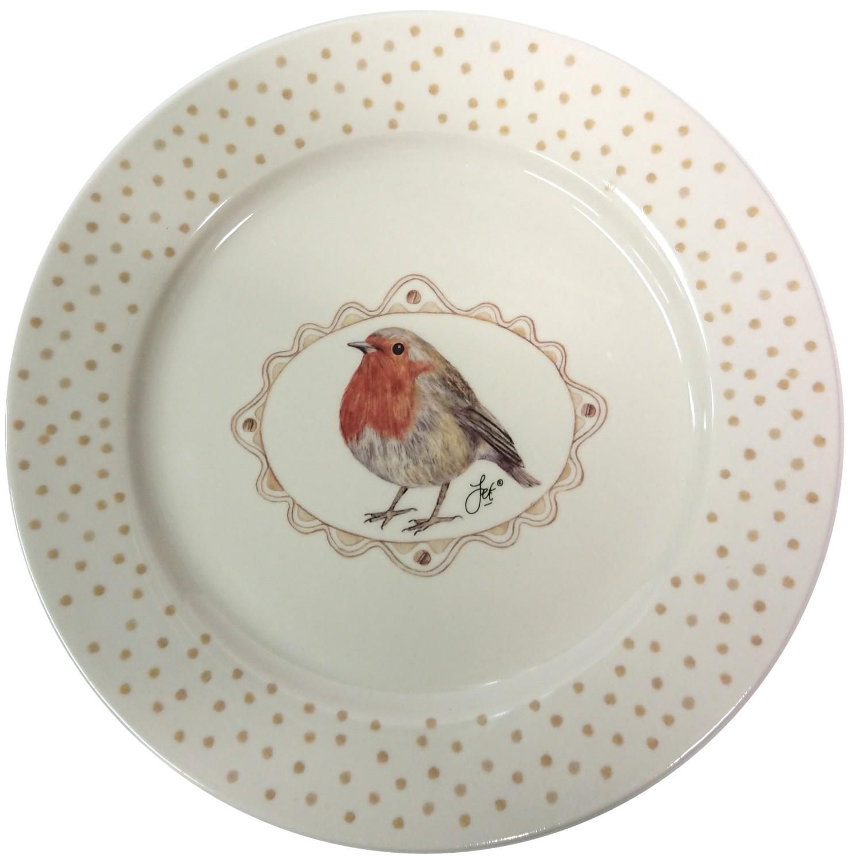 Ontbijtborden met roodborstje Robin
