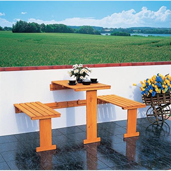Opklapbare balkonset tafeltje bankjes