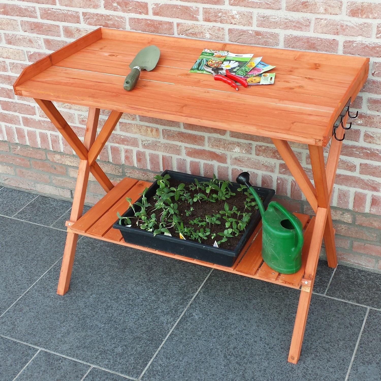 Werktafel in hout 99 x 51 x 87 cm