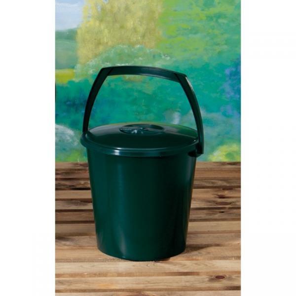 Groene opslagemmer met deksel 9 liter