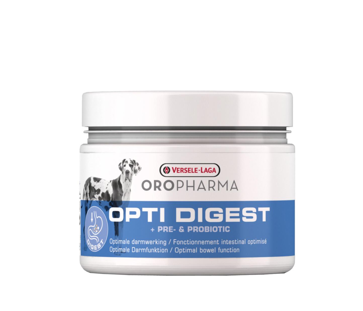 Oropharma Opti Digest voedingssupplement voor honden 250 g