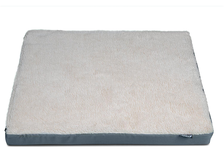 Orthopedisch hondenkussen memory foam grijs 80 x 60 x 8 cm