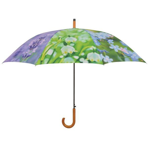 Paraplu met bloemenprint 120 cm