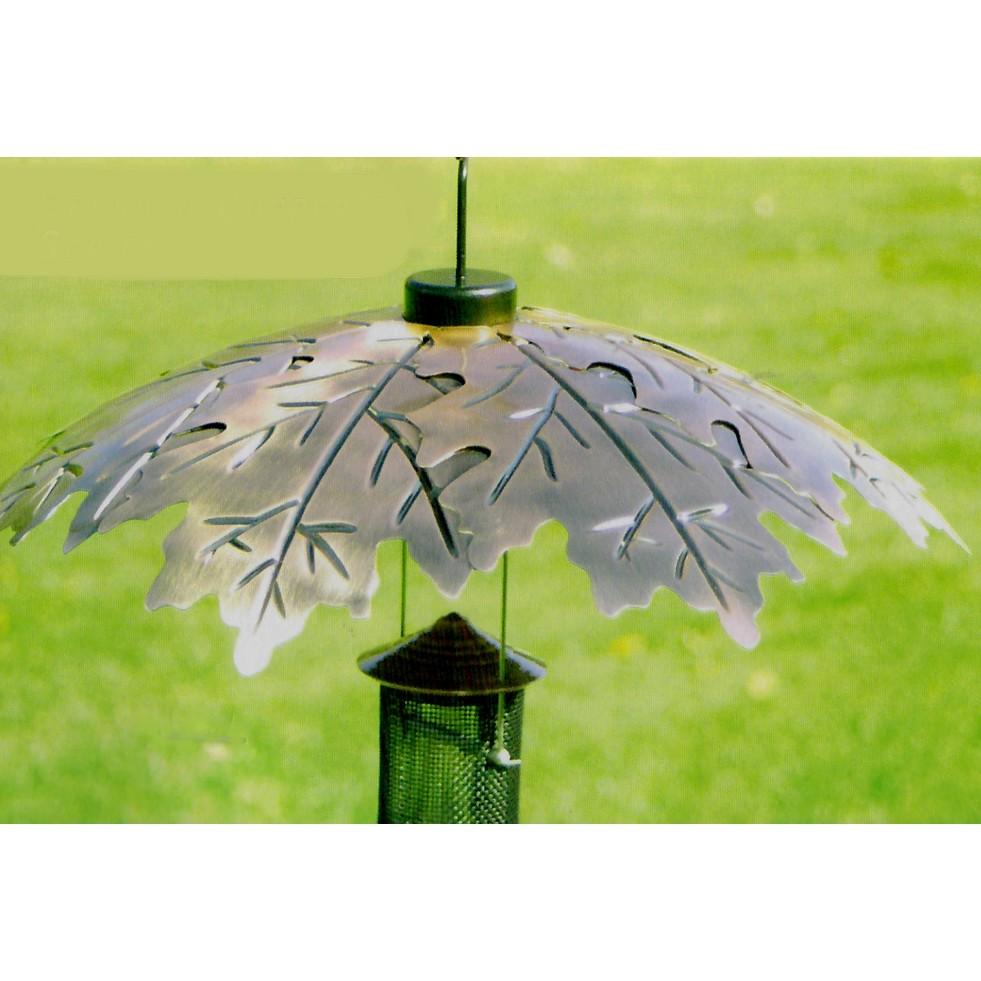 Paraplu voor vogelvoedersilo