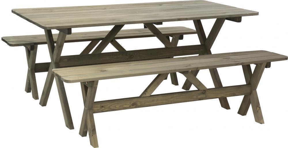 Picknickset tafel met 2 banken
