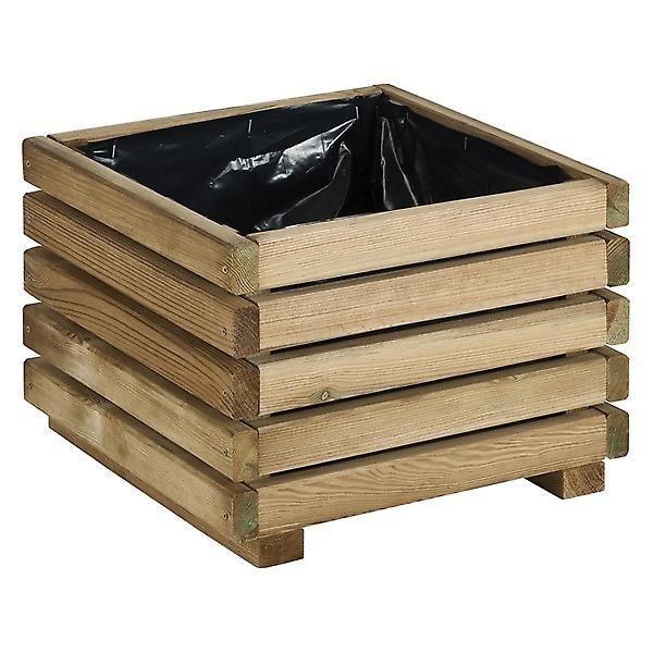 Plantenbak KUB grenenhout 40 x 40 x 28 cm