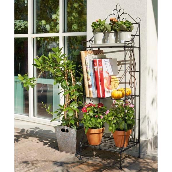 Plantenrek sierkrullen zwart35 x 27 x 112 cm