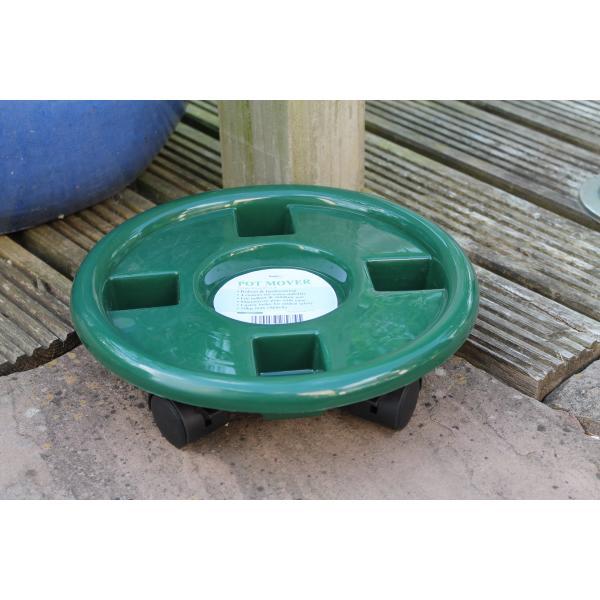 Plantentrolley kunststof groen 30 cm