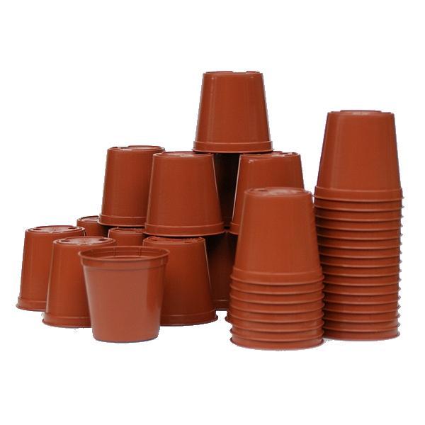 Plastic potjes 6 cm