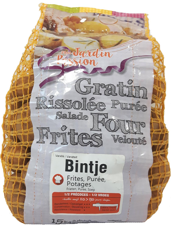 Pootgoed aardappelen Bintje France 15 kg
