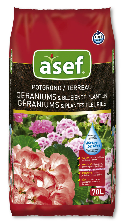 Potgrond voor geraniums viooltjes petunias surfinias70 liter