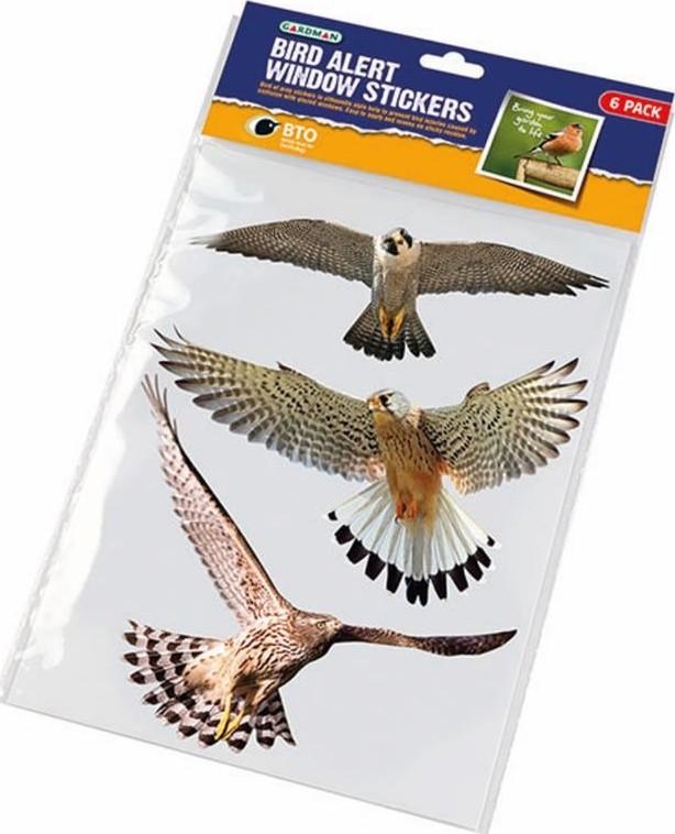 Vogelweringsstickers in kleur