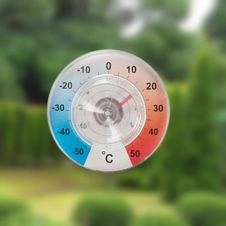 Thermometer met zuignap voor raam