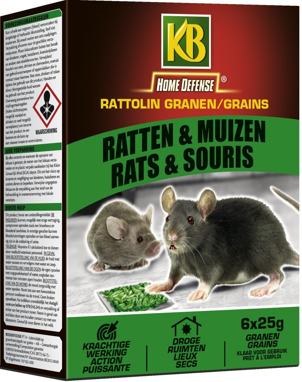 Ratten en muizengif RATTOLIN GRAIN B150 g