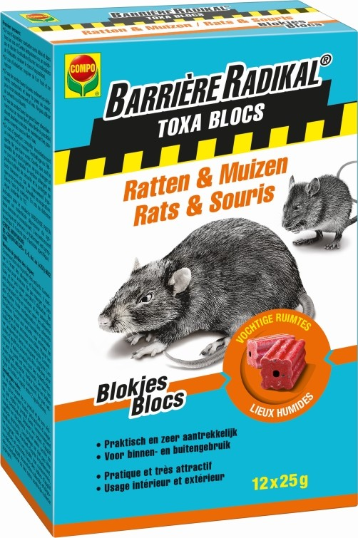 Rattengif blokjes Toxa blocs300 g