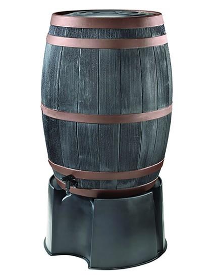 Regenton wijnvatbronzen band 190 liter