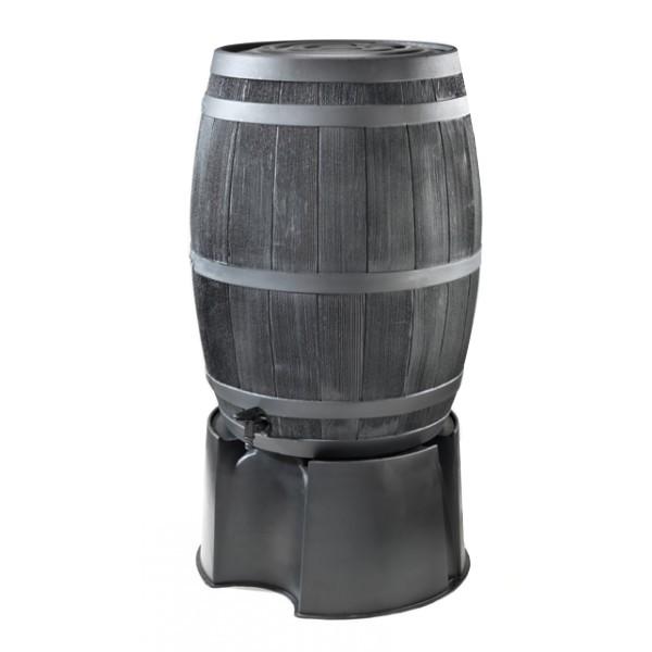 Regenton wijnvatzwart 190 liter