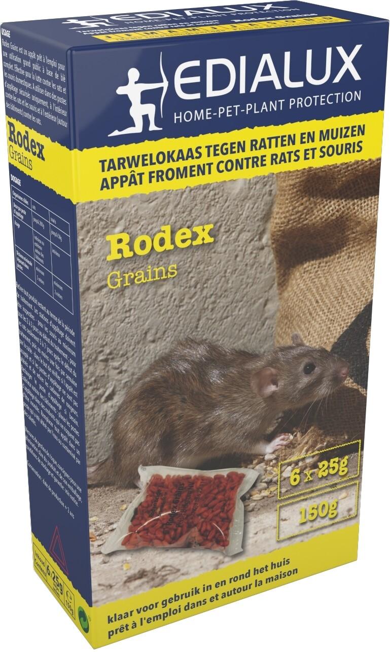 Rodex Grains tegen ratten en muizen 150 g