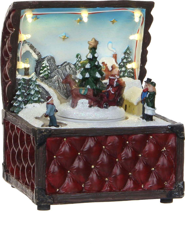 Rode kist met kersttafereel