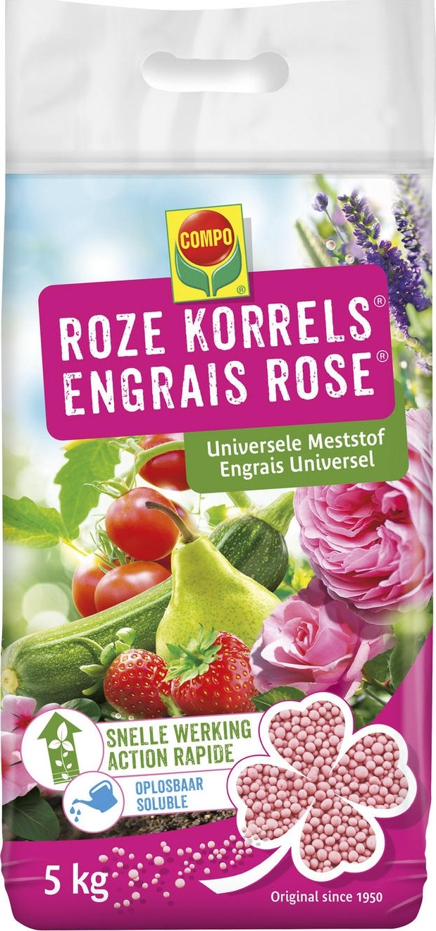 Roze korrels universele meststof 5 kg
