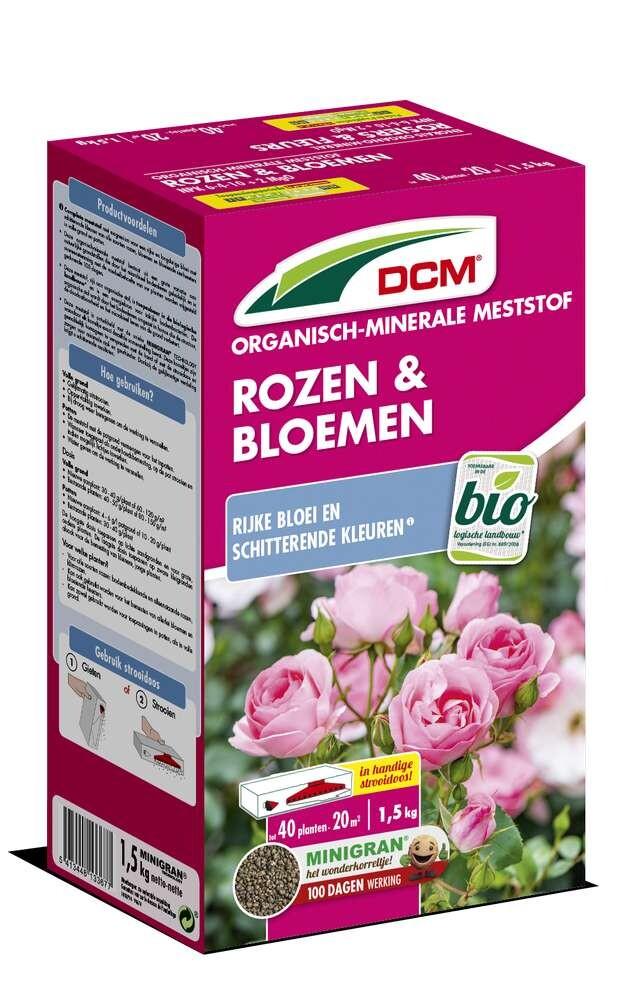Rozen en bloemen meststof DCM BIO 15 kg