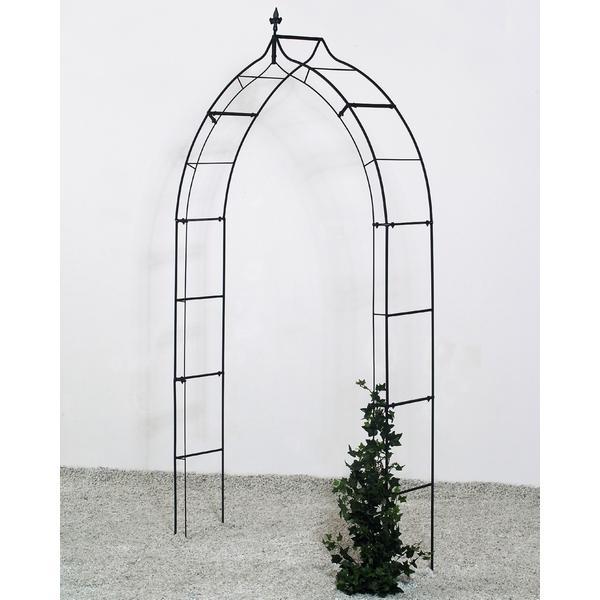 Rozenboog Gotiek zwart 120 x 30 x 248 cm