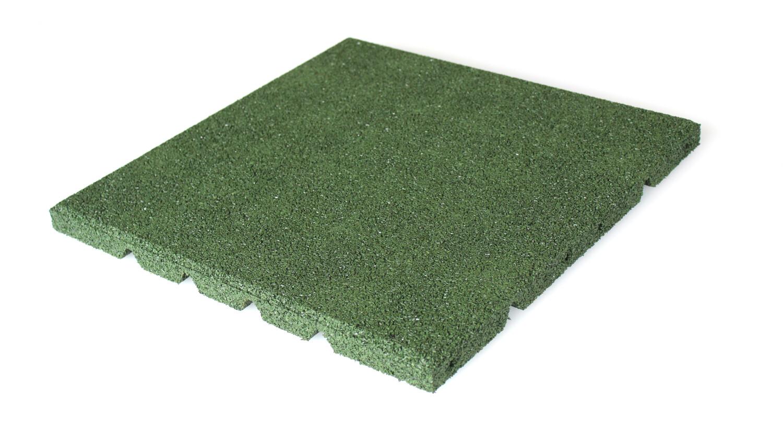 Rubbertegel groen 40 x 40 cm 25 mm