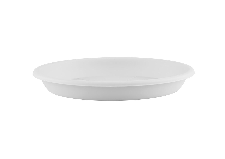 Onderschotel rond 13 cm wit