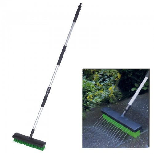 Schuurborstel met tuinslangaansluiting150 cm