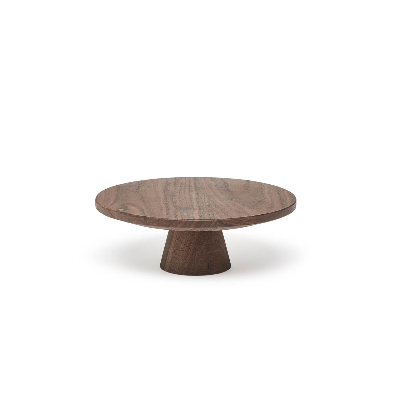 Dutchdeluxes serveerplateau op voet in hout medium