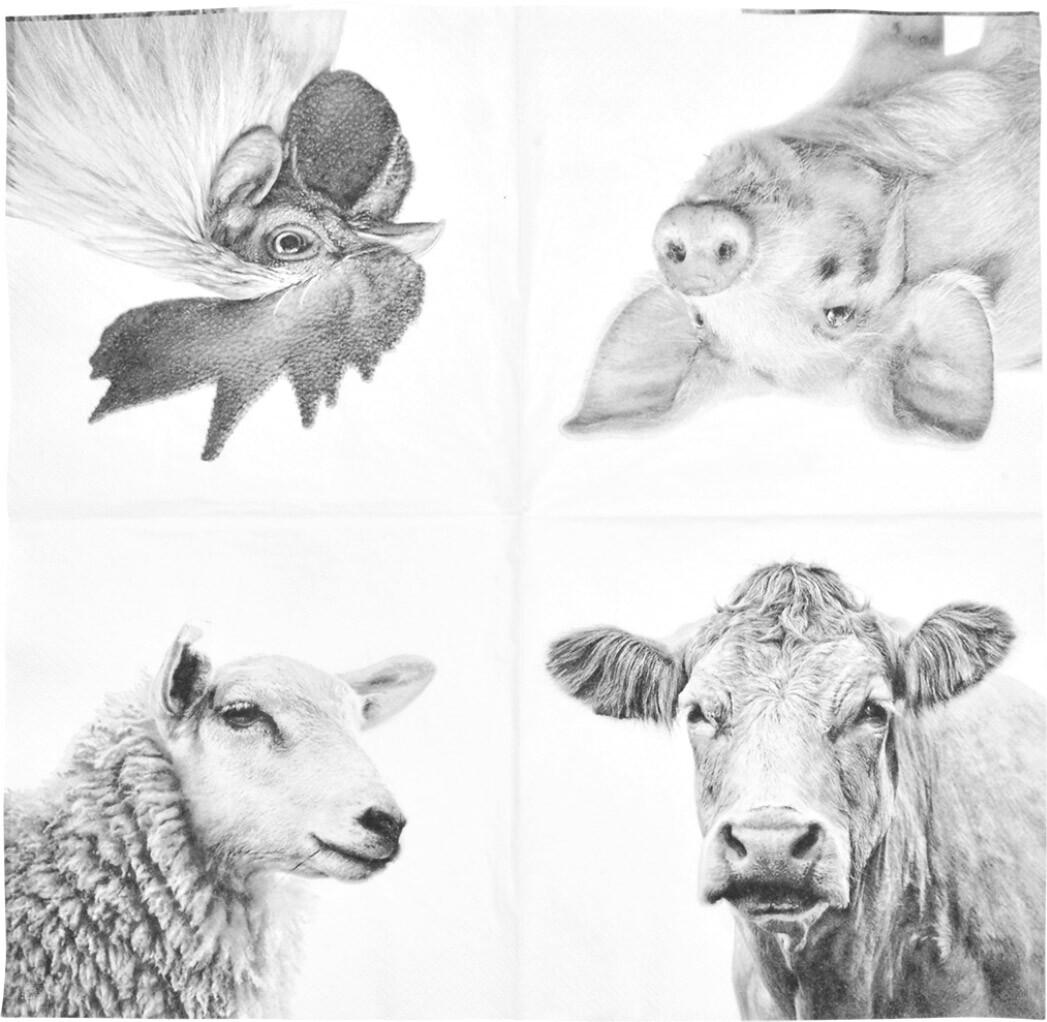 Servetten met boerderijdieren