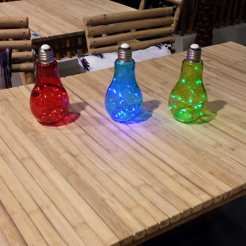 Sfeerlamp in kleurengloeilamp met ledslinger