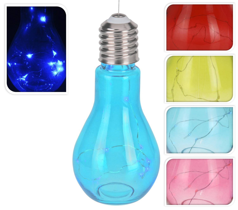 Sfeerlamp in kleuren hangende gloeilamp