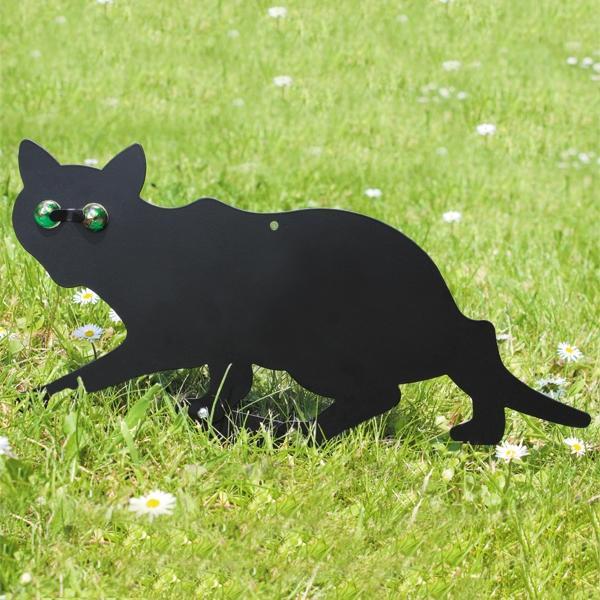 Katten en knaagdierwerende silhouetten