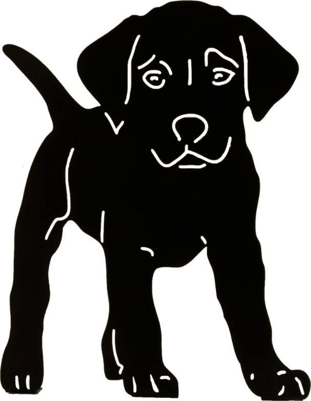 Silhouet puppy hond decoratief