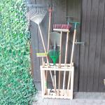 Opbergrek met 8 vakken voor tuingereedschap
