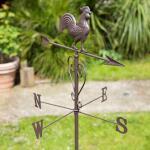 Windhaan als klassieke, metalen windwijzer