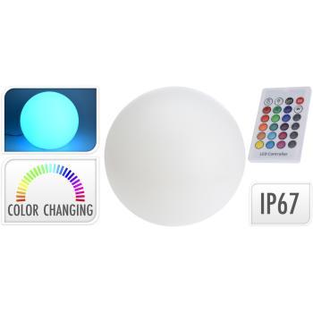 lichtgevende bol 12led 7 kleuren 30 cm