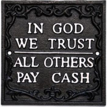 Spreuk In God we trust