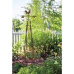 Obelisk met windhaan - plantensteun