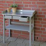 Werktafel met lades - oppottafel (grijs)