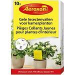 Gele insectenvallen Aeroxon voor kamerplanten