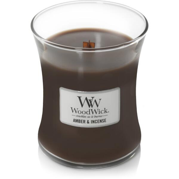 WoodWick Medium Candle - Amber & Incense