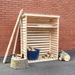 Berging brandhout Woody - 117 cm x 52 cm x 156 cm