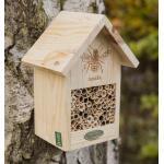 Bijenhotel naturel met brandmerk