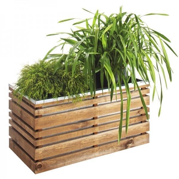 rechthoekige bloembak modern kopen houten bloembak 95 liter sierpotten en plantenbakken. Black Bedroom Furniture Sets. Home Design Ideas