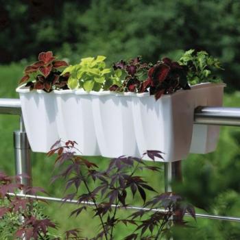 Relingbloembak kopen balkonrand versieren potterie en for Balkon bloembak