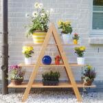 Bloemenrek driehoek MAXI - grenenhout